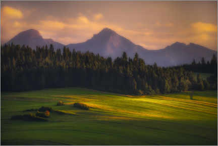 Premium poster Sunset over the Tatras