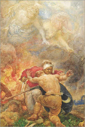 Premium poster  Cain and Abel in the fight against evil - Henry John Stock
