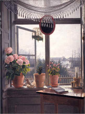 Foam board print  View from the artist's window - Martinus Rørbye