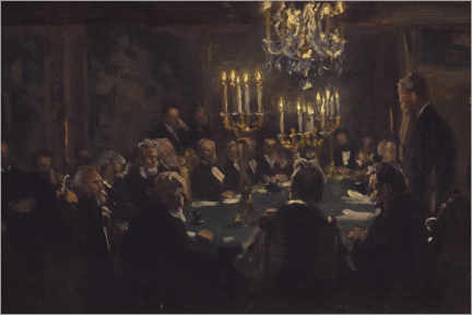Aluminium print  A meeting in the society of science - Peder Severin Krøyer