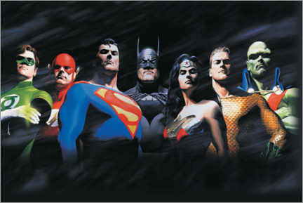 Gallery print  Justice League - The Original Seven