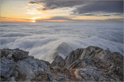 Aluminium print  Sea of clouds on Triglav mountain, Slovenia - Ulrich Beinert