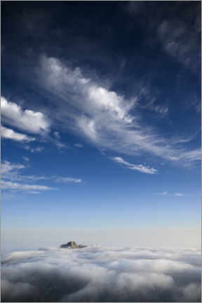 Canvas print  Sea of clouds on the mountain top - Ulrich Beinert