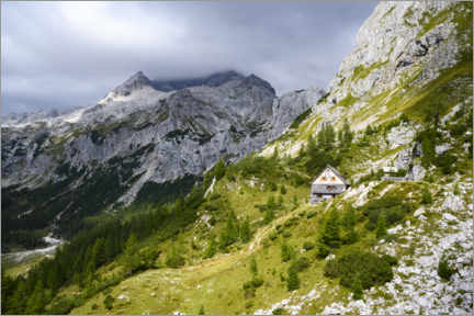 Gallery print  Mountain hut at Triglav, Slovenia - Ulrich Beinert