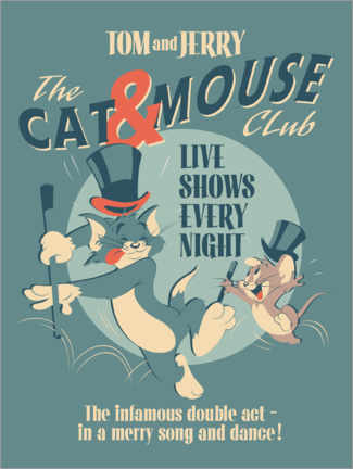 Premium poster  Tom and Jerry - Cat and Mouse Club