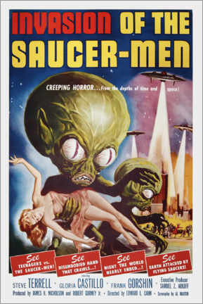 Premium poster Invasion of the Saucer men