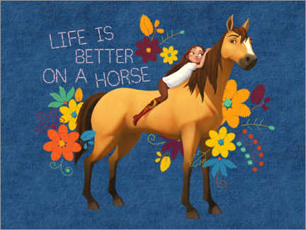 Acrylic print  Life is better on a horse