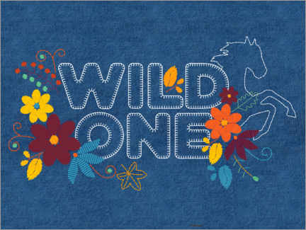 Canvas print  Wild one embroidery