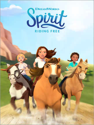 Wood print  Spirit Riding Free
