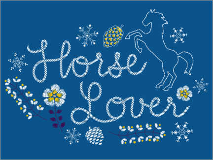 Canvas print  Horse lover embroidery