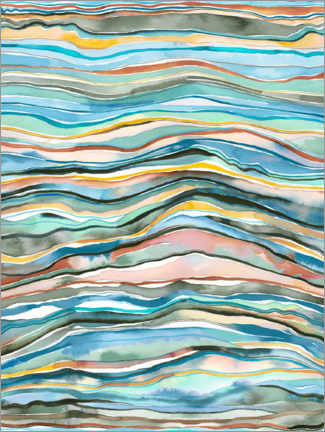 Wall sticker Agate layers blue
