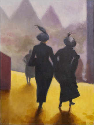 Acrylic print  Two silhouettes - Sarah Morrissette