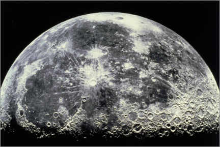 Wood print  Moon - NASA