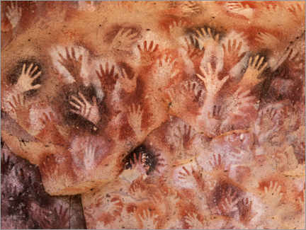 Wood print  Cave of Hands, Argentina - Javier Trueba