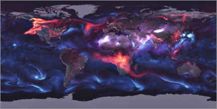 Foam board print  Global distribution of aerosols - NASA