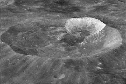 Gallery print  Joule-T and Wargo craters of the moon - NASA