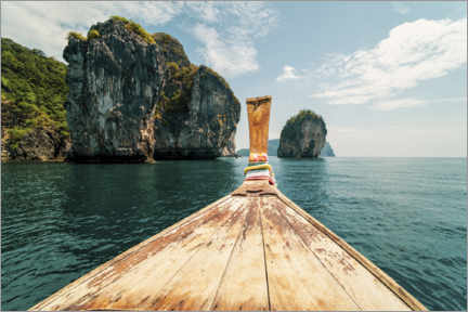 Premium poster Traditional Boat Trip in the Thai Islands