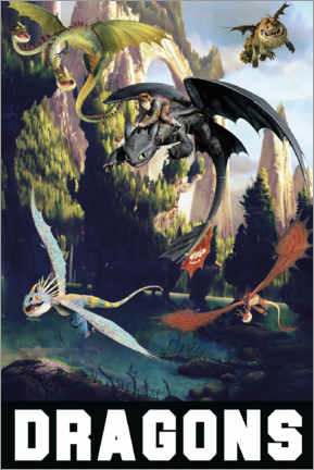 Canvas print  DreamWorks Dragons excursion