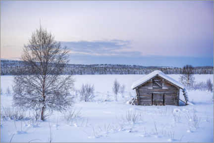 Wall sticker  Remote Cabin in a Winter Wonderland Landscape - Matthew Williams-Ellis