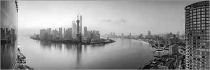 Premium poster  Pudong Skyline Panorama in Shanghai - Jan Christopher Becke