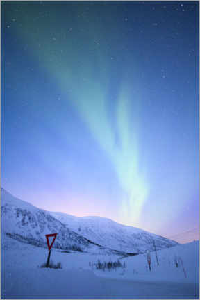 Aluminium print  Northern lights at dusk - Ulrich Beinert