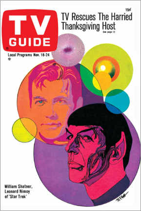 Acrylic print  Star Trek - Retro Cover 1967 - TV Guide