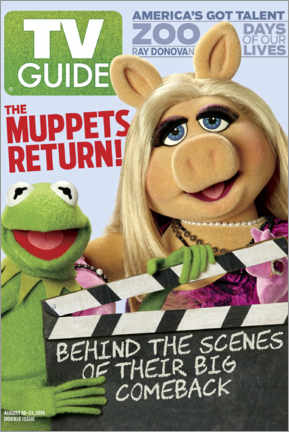 Canvas print  The Muppet Show - Kermit and Piggy - TV Guide
