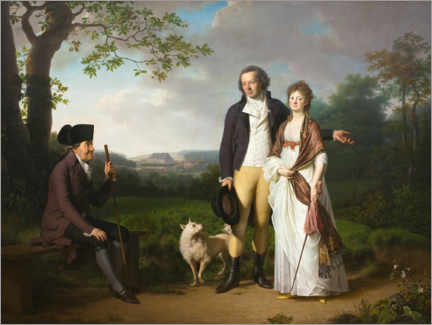 Canvas print  Niels Ryberg with son and daughter-in-law - Jens Juel