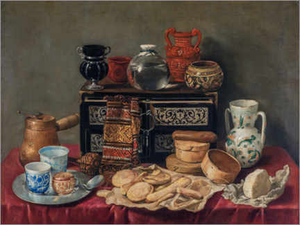 Premium poster Still life with an ebony colored box