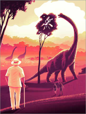 Premium poster Welcome to Jurassic Park