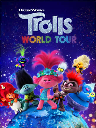 Foam board print  Trolls World Tour - Around the globe