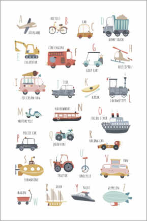 Premium poster  My vehicles ABC - Marta Munte