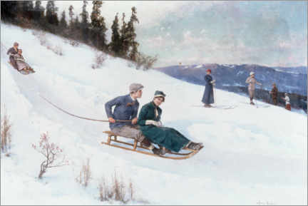 Wall sticker  Tobogganing in Norway - Axel Ender