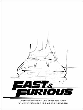 Premium poster  Doesn't matter what's under the hood (Fast & Furious)
