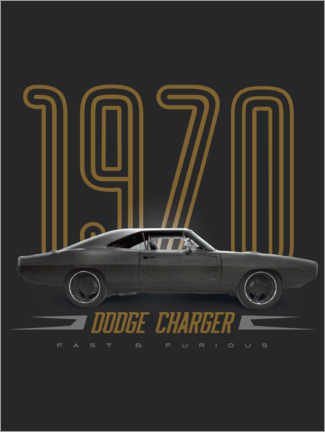 Wall sticker  Dodge Charger 1970