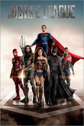 Acrylic print  DC Justice League Movie poster
