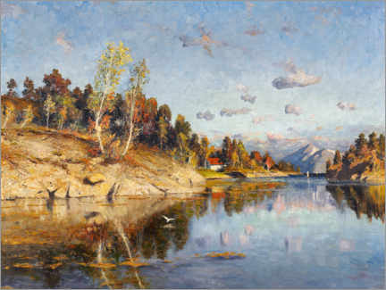 Premium poster  Summer day by the fjord - Adelsteen Normann
