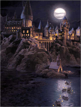 Acrylic print  Harry Potter - Boats to Hogwarts