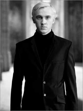 Premium poster  The Half-Blood Prince - Draco Malfoy bw portrait