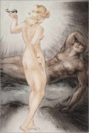 Wall sticker  Love of the psyche and cupid - Louis Icart