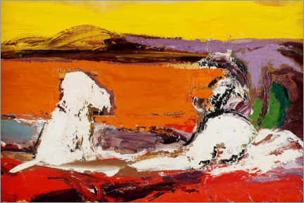 Gallery print  Landscape with dogs - Gunnar Löberg