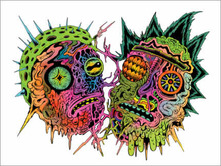 Wall sticker  Psychedelic zombies