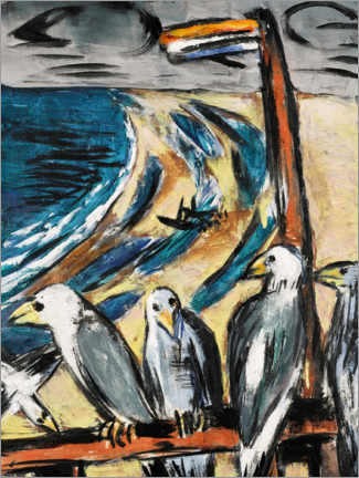 Gallery print  Seagulls in the storm - Max Beckmann