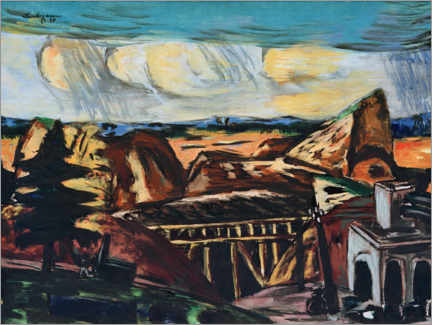Gallery print  Large quarry in Upper Bavaria - Max Beckmann