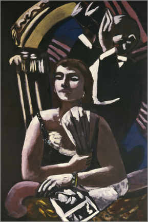 Premium poster  In the box - Max Beckmann