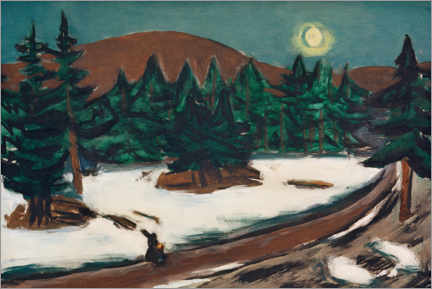 Gallery print  Moon landscape in the mountains with snow - Max Beckmann