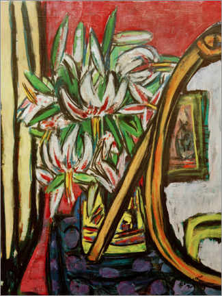 Gallery print  Still life with a mirror and the Turkic League - Max Beckmann