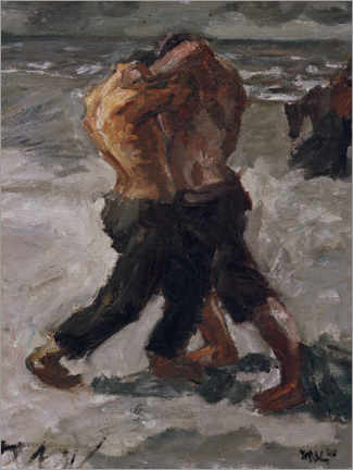 Gallery print  Rivals: wrestling couple - Max Beckmann