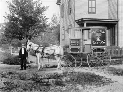 Canvas print  The bakery's horse-drawn carriage