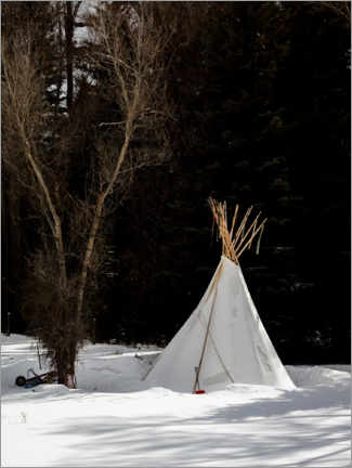 Premium poster  Tepee in the snow, Colorado, USA